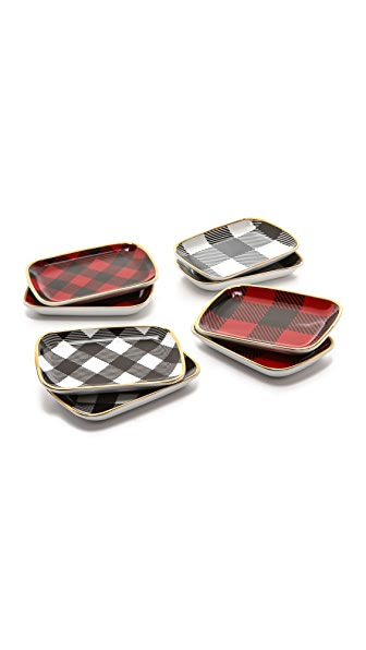 C. Wonder Buffalo Check Mini Appetizer Plate Set