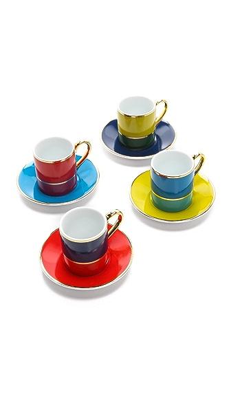 C. Wonder Colorblock Espresso Set