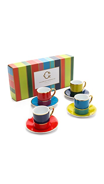 C. Wonder Colorblock Espresso Set