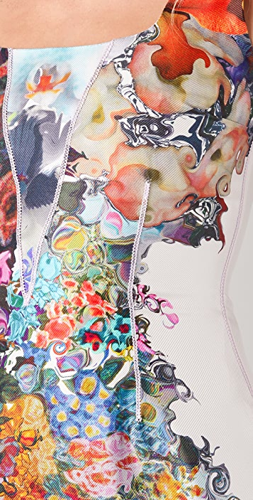 Cynthia Rowley Forced Perspective Floral Tank Dress