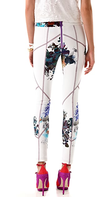 Cynthia Rowley Forced Perspective Floral Leggings