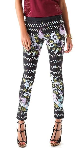 Cynthia Rowley Zigzag Floral Bonded Leggings