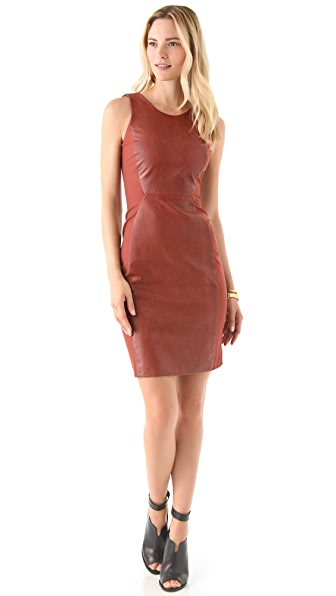 Cynthia Rowley Leather Sheath Dress
