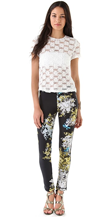 Cynthia Rowley Smokey Botanical Leggings