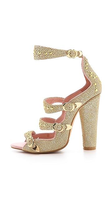 Cynthia Rowley Triple Strap Heels