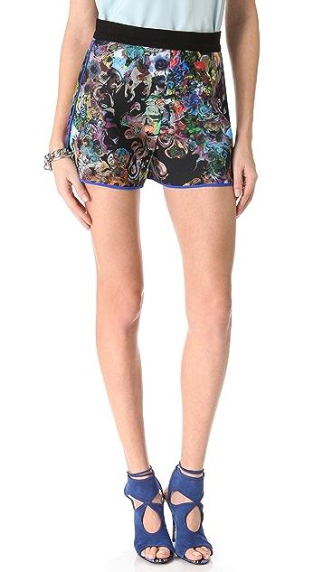 Cynthia Rowley Neoprene Sport Shorts