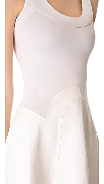 Cynthia Rowley Leather Combo Dress