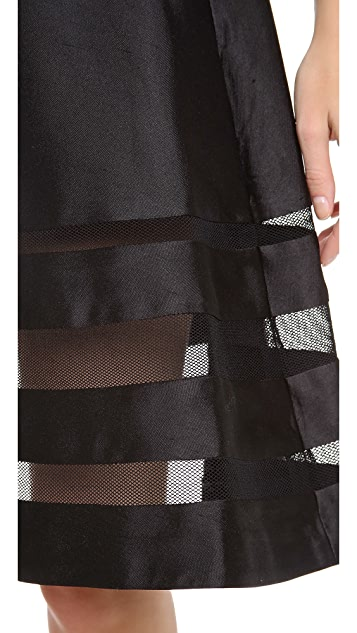Cynthia Rowley Mesh Combo Circle Skirt