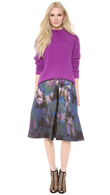 Cynthia Rowley Inverted Pleat Skirt