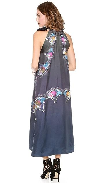 Cynthia Rowley Side Tie Maxi Dress