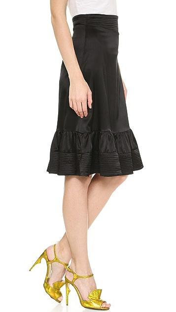 Cynthia Rowley Slim Flounce Skirt