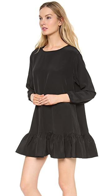 Cynthia Rowley Long Sleeve Flounce Dress