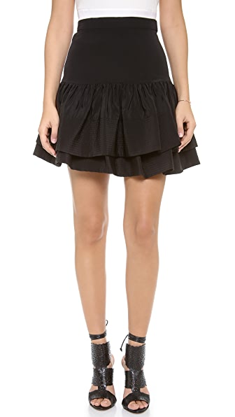 Cynthia Rowley Double Flounce Skirt