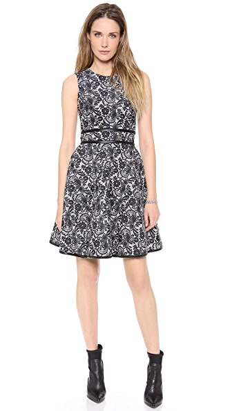Cynthia Rowley Lace Print Bonded Dress