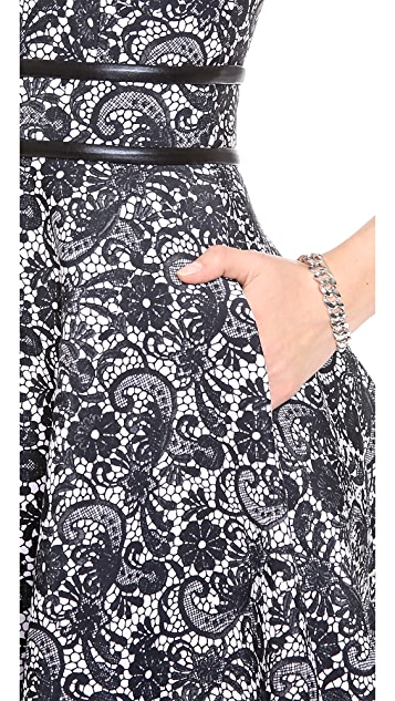 Cynthia Rowley Lace Print Bonded Dress