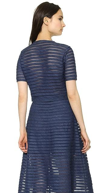 Cynthia Rowley Short Sleeve Cropped Top