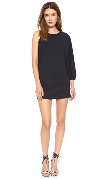 Cynthia Rowley Pique One Shoulder Tunic Dress