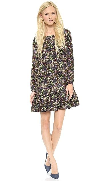 Cynthia Rowley Printed Flounce Dress