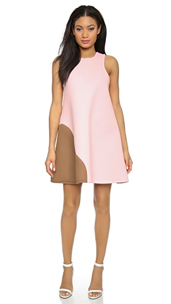 Shop Cynthia Rowley online and buy Cynthia Rowley Bonded Trapeze Dress Pink/Brown dresses online