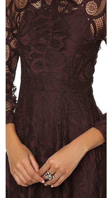Cynthia Rowley High Neck Lace Dress