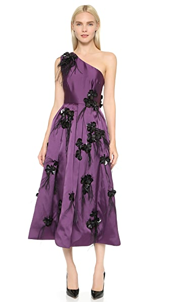 Cynthia Rowley One Shoulder Embellished Gown