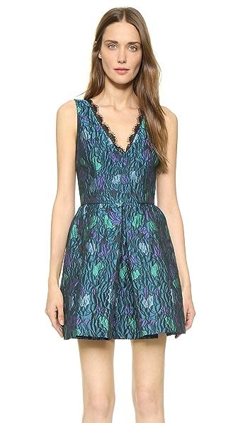 Shop Cynthia Rowley online and buy Cynthia Rowley V Neck Peonie Dress Teal dresses online