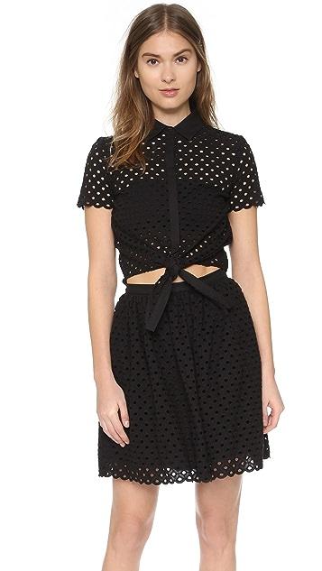 Cynthia Rowley Shirt Dress with Knot Tie