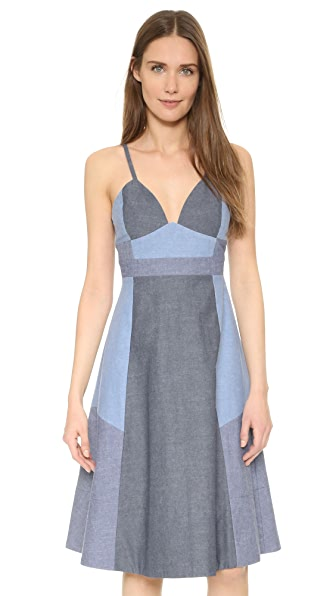 Cynthia Rowley Patchwork Slip Dress