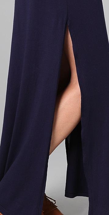 Daftbird Henley Long Dress with Side Slits