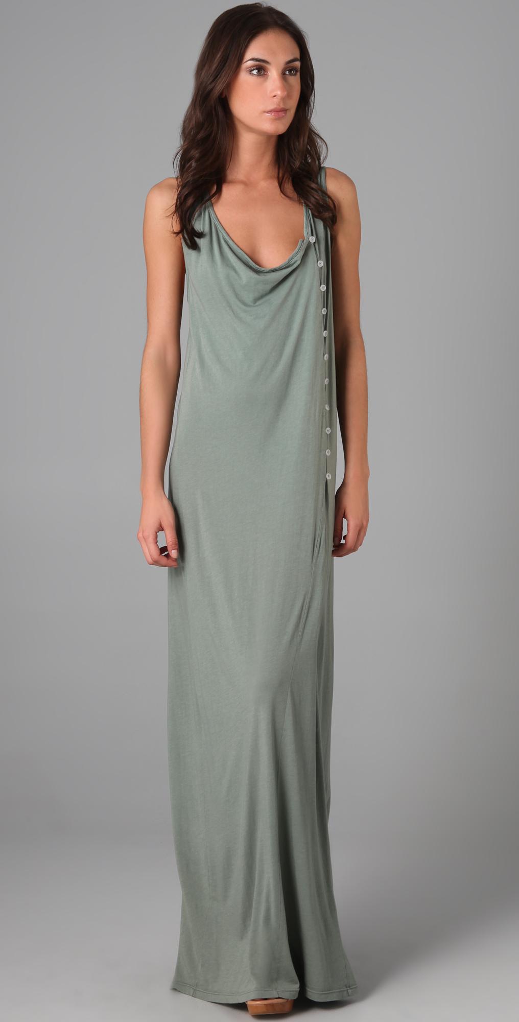 Daftbird Button Detail Maxi Dress | SHOPBOP