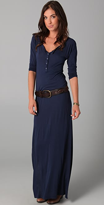 Daftbird Henley Long Sleeve Dress | SHOPBOP Extra 25% Off Sale ...