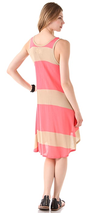 Daftbird Striped Henley Tank Dress
