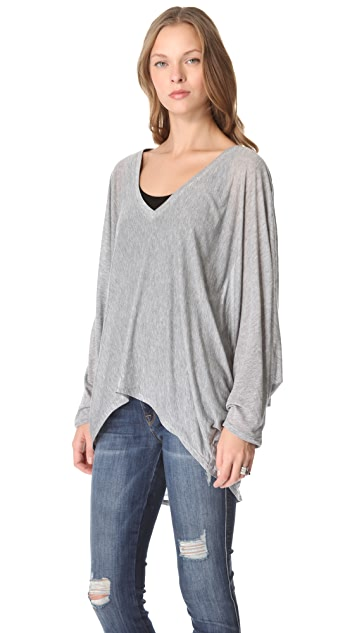 Daftbird Dolman V Neck Top