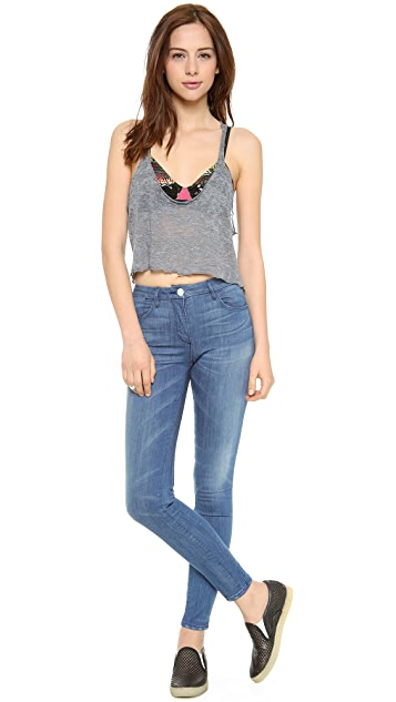 Daftbird Loose Cropped Burnout Tank