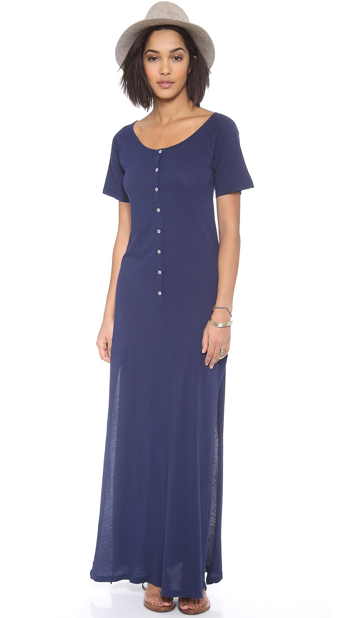 Daftbird Deep Henley Maxi Dress - SHOPBOP