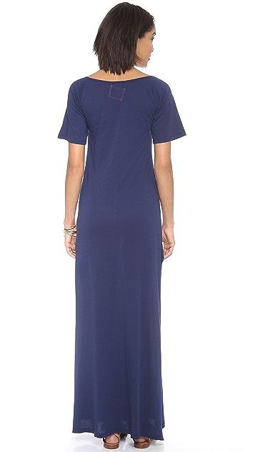 Daftbird Deep Henley Maxi Dress