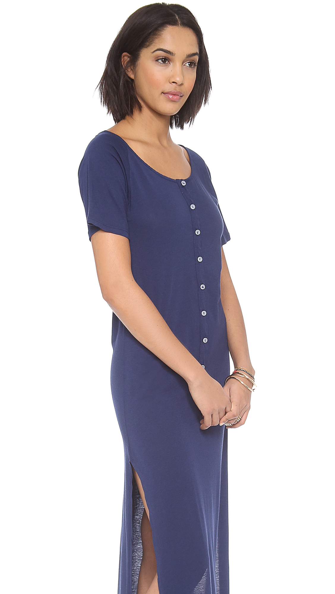 Daftbird Deep Henley Maxi Dress | SHOPBOP