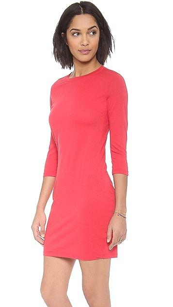 Daftbird Elbow Sleeve Mini Dress
