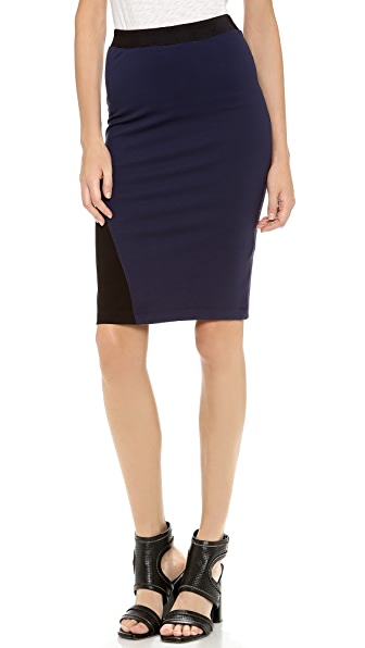 Dagmar Roxanne Colorblock Pencil Skirt
