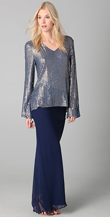Dallin Chase Kyros Embroidered Top