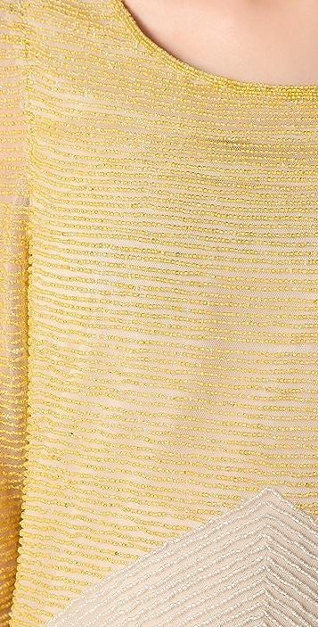 Dallin Chase Sal Beaded Striped Dress