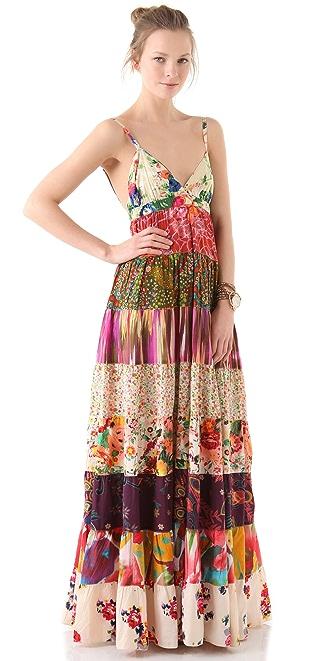 Dallin Chase Dani Patchwork Print Dress