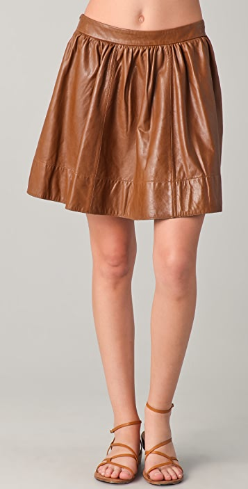 Dallin Chase Flynn Washed Leather Skirt