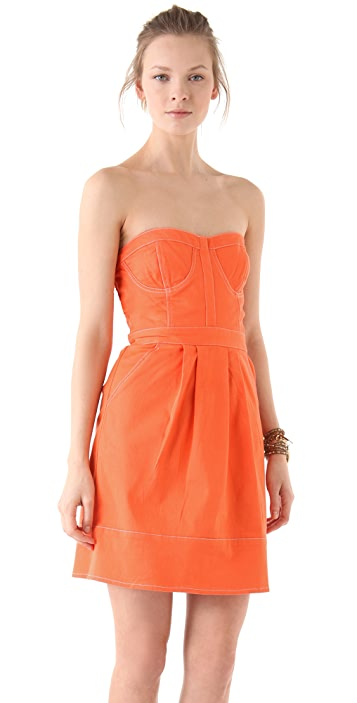 Dallin Chase Matteo Strapless Bustier Dress