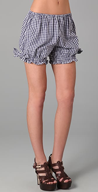 D&G Gingham Tap Shorts