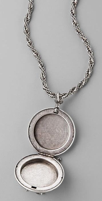 DANNIJO Edith Crystal Locket Necklace