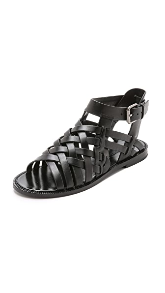 Shop DANNIJO online and buy Dannijo Kallie Hurache Sandals Black shoes online