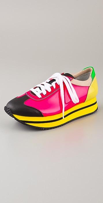 Ruthie Davis Joggie Lace Up Retro Sneakers