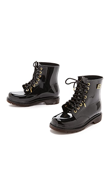 Dav Finley Lace Up Rain Booties