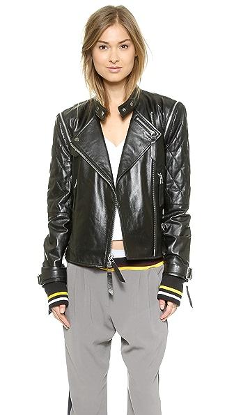 DKNY x Cara Delevingne Leather Moto Jacket